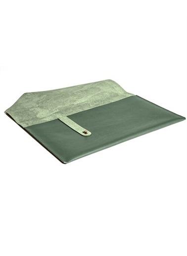"""Maxmillen Deri Macbook Çantası - 13"""" - Yeşil Yeşil"""